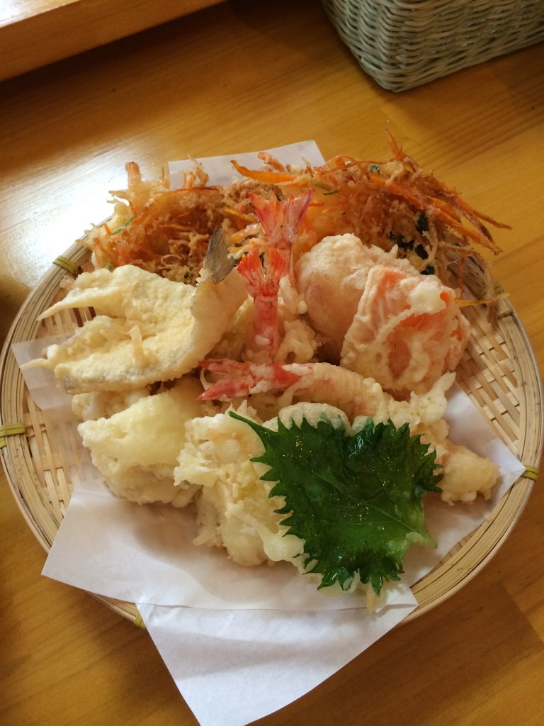 天ぷら盛りつけ